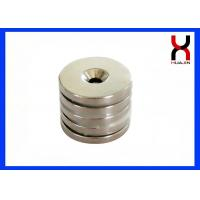 China N35 N42 Grade Countersunk Rare Earth Magnets , Strong Block Countersunk Magnets on sale