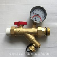 China Underfloor Heating Strainer Ball Valve with Thermometer wholesale