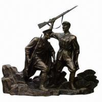 China Customized Resin Military Sculpture for Outdoor Decorations  on sale