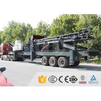 Quality PLC Control Mobile Stone Crusher Plant Mobile Impact Crushing Plant Integrated Design for sale