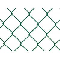 Quality Plastic Coated Chain Link Fence Mesh / Heavy Duty Chain Link Fencing for sale