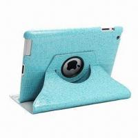 Quality Rotated/Swivel Leather Case for iPad 3, with Multiple Viewing Angle for sale