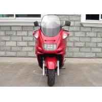 China Red Motor Powered Scooter With Hand Brake , Motor Scooter 150cc With Strong Light on sale