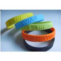 Buy cheap high quality silicone bracelet from wholesalers