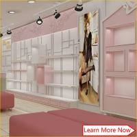 Good quality commercial display wood furniture for shoe store decoration/shoe store fixtures