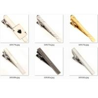 Quality Casting Custom Logo Tie Clip , Vintage Tie Clips With Electroplating Surface for sale