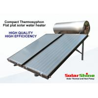 Quality residential solar hot water heater with thermosyphon pressurized water tank for sale