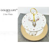Quality Kitchen Accessories Decorative Ceramic Plates Dinner Set Two Tier Fruit Plate Reindeer Head Style for sale