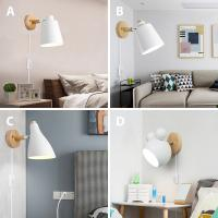 Quality Modern Art Decor Creative Design Mick Mouse Lampshades Bedroom Bed sides plug in wall light (WH-OR-06) for sale