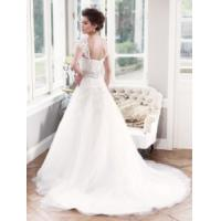 Quality China 2014 Latest A-Line Lace/Tulle Train Hotel Bridal Wedding Dress for sale