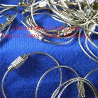 Quality stainless-steel-wire-buckle-key-ring-buckle-steel-wire-rope for sale