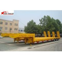 Buy Heavy Duty Hydraulic Low Bed Semi Trailer Swan Neck Gooseneck Light Yellow at wholesale prices