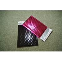 China Large Pink Metallic Bubble Mailers 175x260mm #D PVC Puncture Resistant on sale