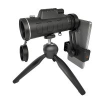 Quality Black Super Powered 40x60 Monocular Telescope Black With Compass / Tripod for sale