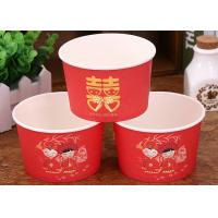 Quality Red Wedding Insulated Disposable Soup Bowls Eco Freindly Materials for sale