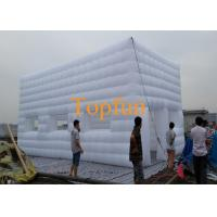 Quality 8M Fabric Inflatable Event Tent / White Inflatable Cube House For Outdoor Events for sale