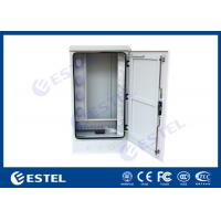 China IP65 Outdoor Communication Cabinets , Optical Fiber Cabinet 19 20U With Cable Organizer on sale