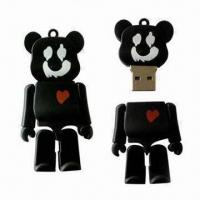 Quality USB Flash Stick with Rubber Cartoon Design and 1 to 32GB Memory Capacity for sale