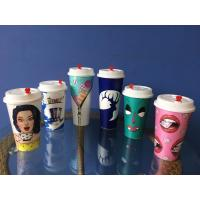 Quality Custom Personalized Plastic Cups 3D Lenticular Printing For milk tea for sale
