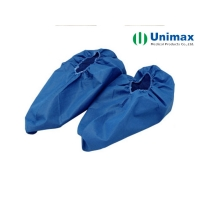 Quality Blue White Short Type SMS Disposable Non Woven Shoe Cover Boot Cover for sale