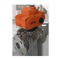 Quality Multi Port DN80 3 Way Quarter Turn Explosion Proof Electric Ball Valve for sale
