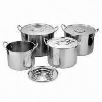 Quality Stainless Steel Stock Pot Set, Available on 22-28cm Sizes, OEM Orders are Accepted for sale