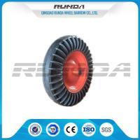 China 16 Inch Solid Rubber Wheels Black Tyre Color Steel Rim 150kg Loading For Tractor on sale