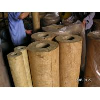 Quality Light Weight Rockwool Pipe Insulation For Hot / Cold Pipe Lines for sale