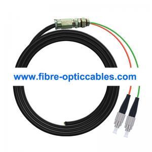 Quality LSZH SM FC UPC Fiber Optic Pigtail 2 Ceramic Core Waterproof for sale