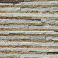 Quality Thin Marble / Sandstone / Quartzite Stone Veneer White and Yellow Color for sale