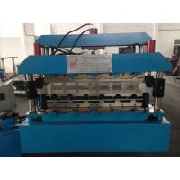 Quality 7.5KW Roof Panel Roll Forming Machine With Guide Pillar high Productivity for sale