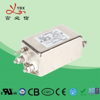 Quality Double Stage AC Voltage Line Filter 1A-20A Metal Case Eco - Friendly for sale