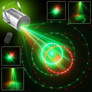 12 Gobos Red+green Mini dj Laser Lights Projector (single hole)