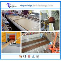 Buy cheap PE PVC WPC Profile Extrusion Line Wood Plastic Making Machine from wholesalers