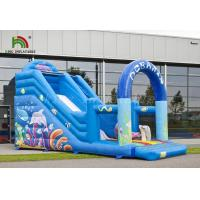 Quality Durable PVC Inflatable Dry Slide Digital Printed Blue Oceanic With CE Blower for sale