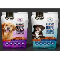 China Food Grade Aluminum Foil Stand Up Pouch , Laminated Pet Dog Food Zip Lock Plastic Bags on sale
