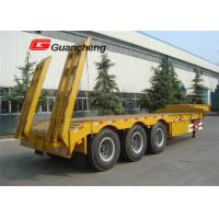 Quality Heavy duty 4 axle 60 tons 13m gooseneck lowboy semi trailer with Triangle tire for sale