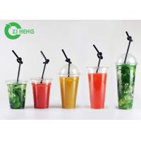 China Large Hard Disposable Plastic Cups With Lids Highly Transparent Custom Logo on sale