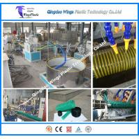 Quality PVC Spiral Hose Pipe Extruder Machine / PVC Suction Pipe Making Machine for sale