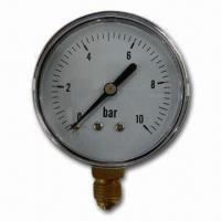 Quality Gas Manometer/Gas Safety Gauge, Made of Steel, with Bronze Plating and 1.5-inch Dial for sale