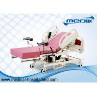 Quality Remote Controller Medical Maternity Bed With Telescopic Working Table for sale