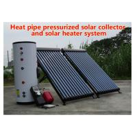 Quality 150-500 L Tank Heat Pipe Solar Water Heater Pressurized Solar Collector for sale