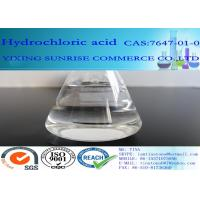 Quality HCL Hydrochloric Acid Chemical Additives In Food CAS 7647-01-0 Colorless Transparent Liquid for sale