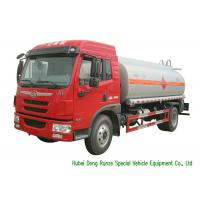 Quality FAW Gasoline Tanker Truck For Vehicle Refueling With PTO Fuel Pump And Dispenser for sale