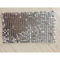 Quality 100% aluminum flat diamond rings colorful and various rustproof metal mesh curtain for sale
