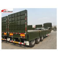 Quality 3 Axles Gooseneck Side Wall Semi Trailer Mechanical Suspension / Air Suspension for sale