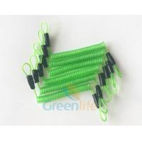 Quality 70CM Long Steel Wire Spring Spiral Coil Cable Transparent Green With Double Cord Loops for sale