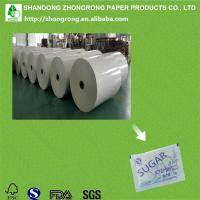 Quality 40+10gsm PE coated paper for sugar sachet for sale