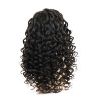 Quality European and American hot sale full lace real hair wigs Indian hair ladies wig curly hair Kinky Curly for sale