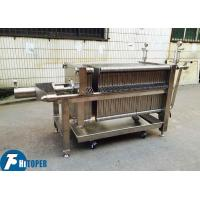 China Industrial Stainless Steel Filter Press , Wine / Beer / Liquor Filtration Equipment on sale
